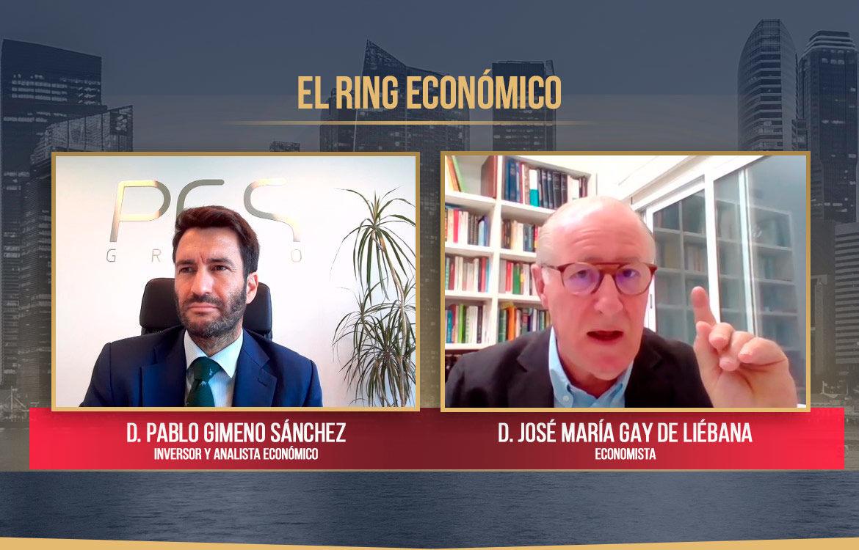 José María Gay de Liébana y Pablo Gimeno analizan la coyuntura económica y sus previsiones en un debate virtual
